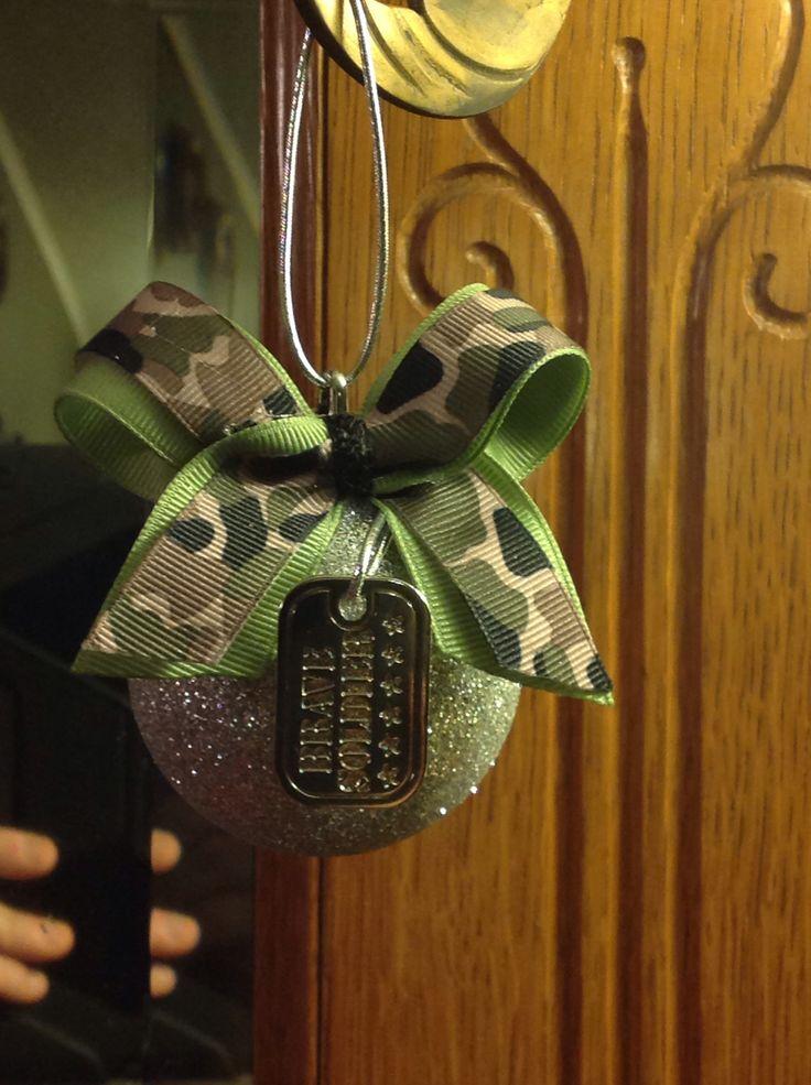 Army/dog tag Ornament