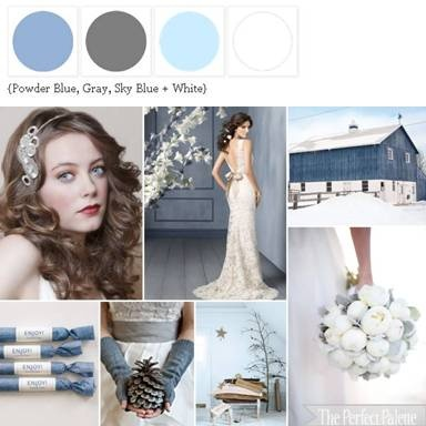 Dusk Blue Wedding colour palette inspiration, The Perfect Palette, via Aphrodite's Wedding