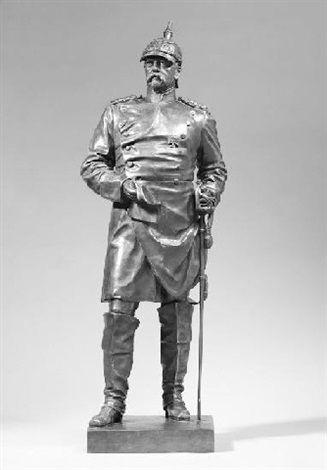 Wilhelm Albermann ' Otto Von Bismarck' 1900 OPEN De leerling herkent een trotse houding, hoofd in de lucht en schouders achteruit (open) Von Bismarck was een dominant figuur tijdens de wereldgeschiedenis. Na zijn dood werd hij vaak afgebeeld als symbool voor een krachtig leiderschap.