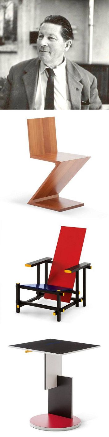 Happy Birthday Gerrit Thomas Rietveld!  Look at his masterpieces on…