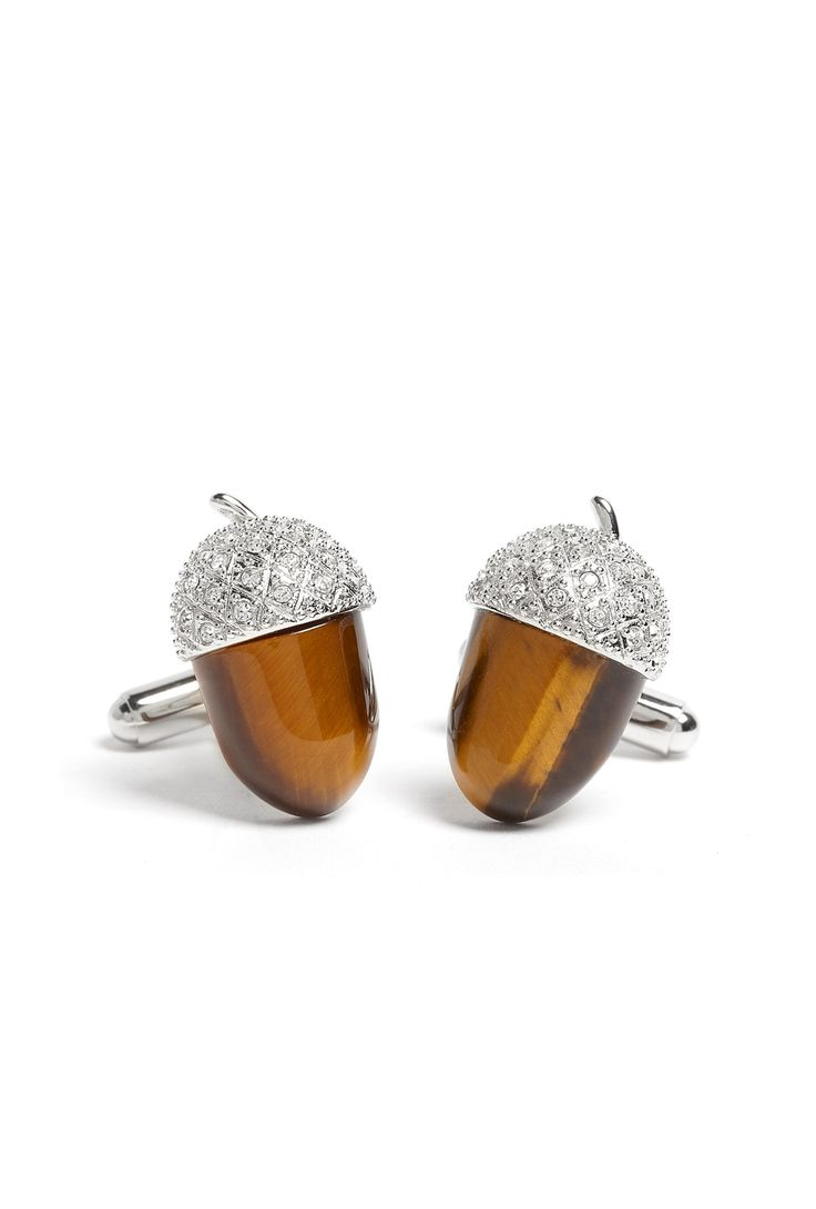 How cute are these crystal cufflinks