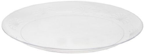 "Designerware DWP9180 9"" Clear Polystyrene Round Plate (18 Packs of 10) by Designerware. $106.27. 9"" Clear Plastic Plates Upscale, plastic disposable tableware. Provides the elegance and feel of fine china, crystal, but eliminates breakage worries and reduces labor costs associated with clean-up, washing and transportation. Perfect for use with caterers, casinos, supermarkets, restaurants, night clubs, hotel/motels/resorts, amusement parks, bars, country clubs and more. Tradition..."