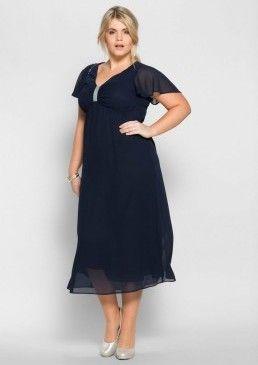 Večerní šaty s ozdobnými korálky, sheego style #avendro #avendrocz #avendro_cz #fashion #dress