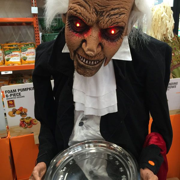 let this waiter serve the candy on halloween night not only do his eyes scare - Halloween Crafts To Do At Home