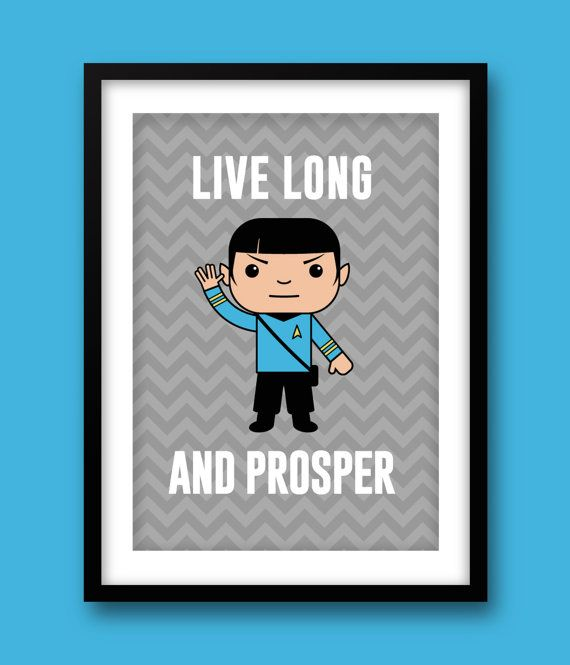 Star Trek wall art kids wall art Star Trek Spock by MiniHeroes, £10.49