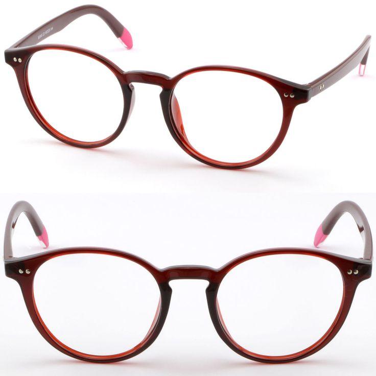 Full Rim Round Women Plastic Frame TR90 Flexible Durable Glasses RX Sunglasses #Unbranded
