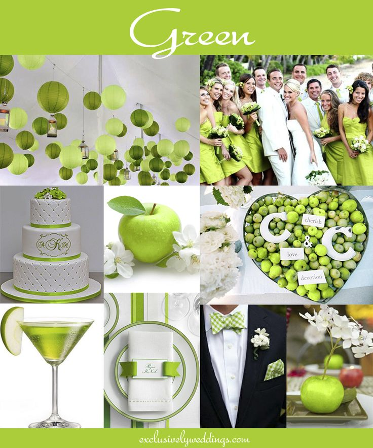 Green Wedding Color   Read More At Http://blog.exclusivelyweddings.com