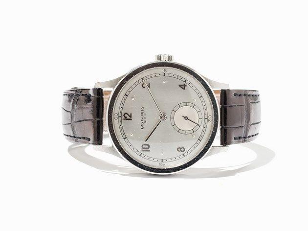 Patek Philippe Oversize Steel Wristwatch, Ref. 570, Around 1945