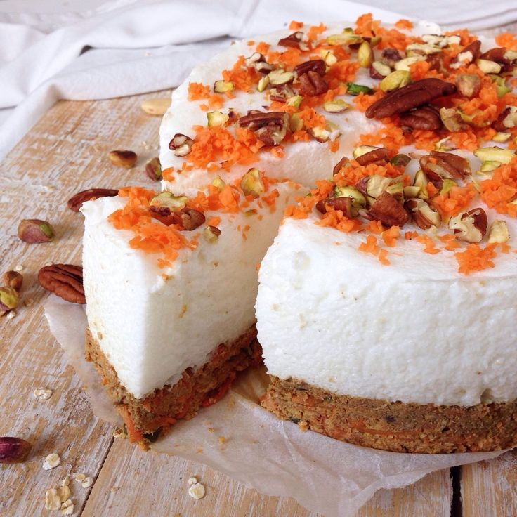 Oh My Pie! glutenvrij lactosevrij carrot cake cheesecake no bake gezond