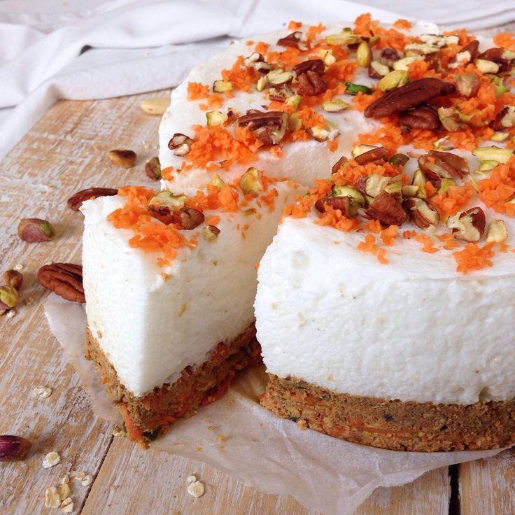 Oh My Pie! glutenvrij lactosevrij carrot cake cheesecake no bake gezond