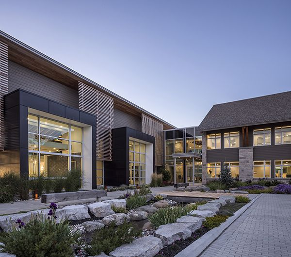 OakWood's new corporate headquarters was designed by Hobin #Architecture with technical advances  that exceed the highest #energy and #environmental #standards in #Canada