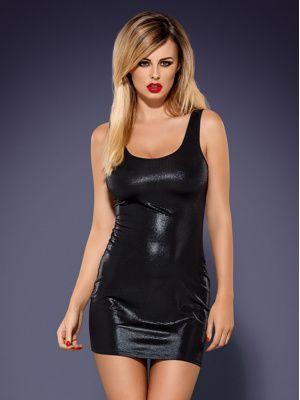 Šaty Obsydian wetlook - Obsessive