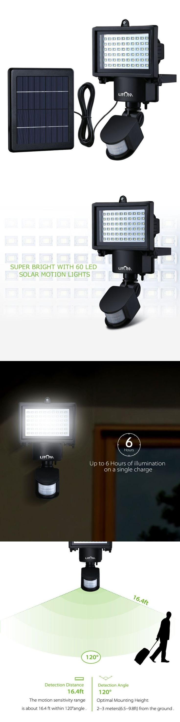 farm and garden: Super Bright Led Solar Powered Outdoor Garden Security Motion Sensor Flood Light BUY IT NOW ONLY: $40.56