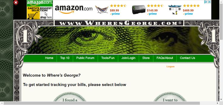 Where's George? - Official Currency Tracking Project -