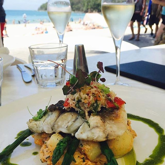 Now this looks like a rather nice way to spend the afternoon - fresh and delicious food paired with incredible views over Noosa Main Beach!