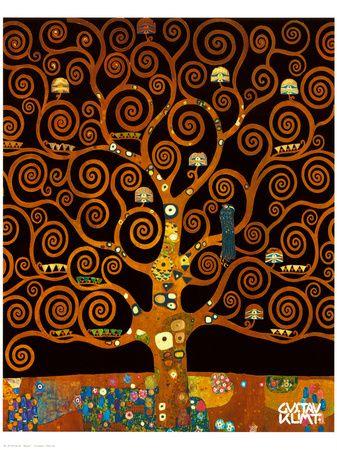 "Gustav Klimt, ""Under the Tree of Life"""
