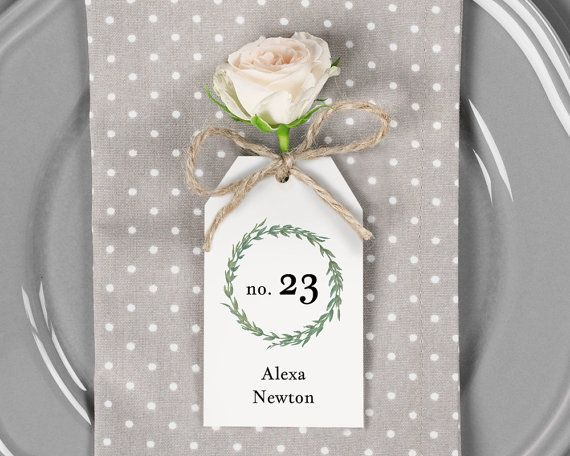 Place Card Printable Escort Card Template by SmittenPaperProps