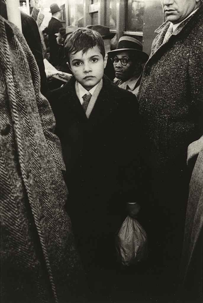 Boy in the Subway, 1956 photo by Diane Arbus