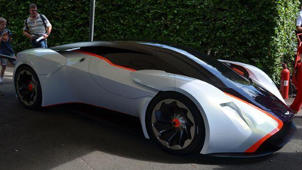Aston Martin DP100 concept car at Goodwood Festival of Speed. BBC Top Gear