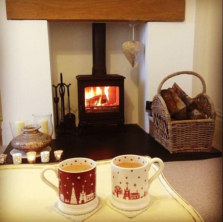 Emma Bridgewater Christmas Town 0.5 Pint Mug Litho 2013 and Christmas Town 0.5 Pint Mug Sponged 2013