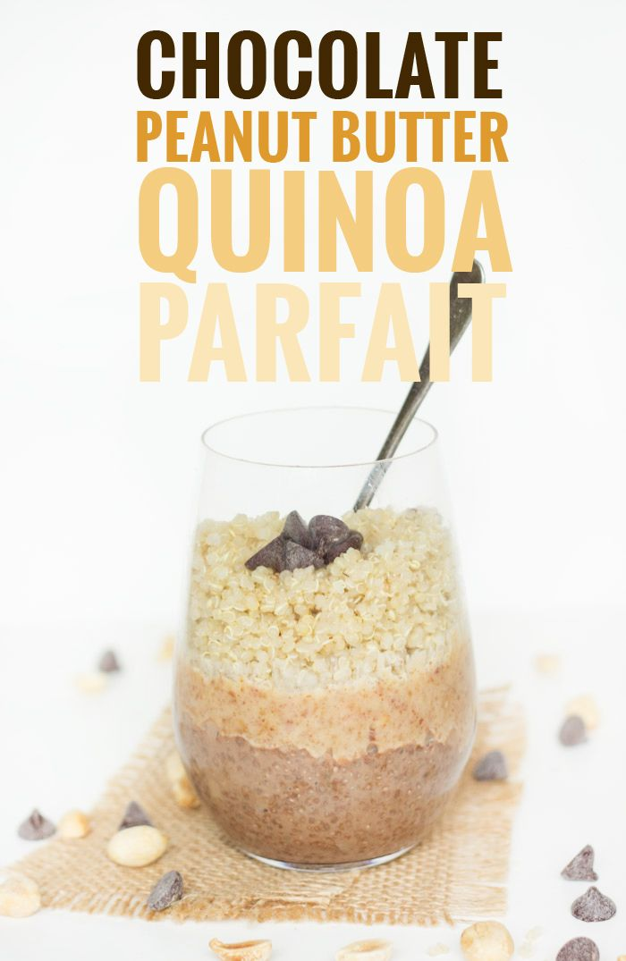 Chocolate Chia Pudding, Peanut Butter Sauce and Cooked QUINOA make this super HEALTHY breakfast recipe!