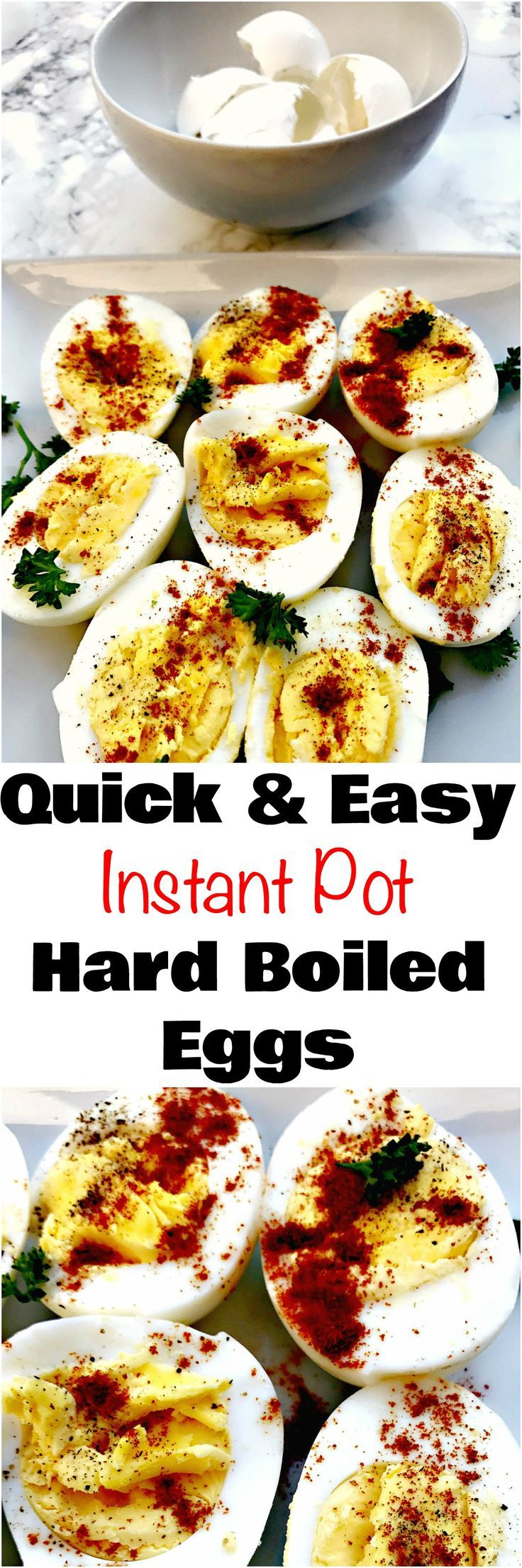 How to Make Hard Boiled Eggs Using the Instant Pot is a quick and easy recipe tutorial video on how to make hard boiled eggs in 7 minutes.