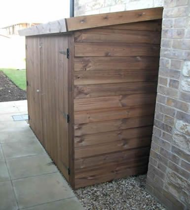 how to build a shed on side of house