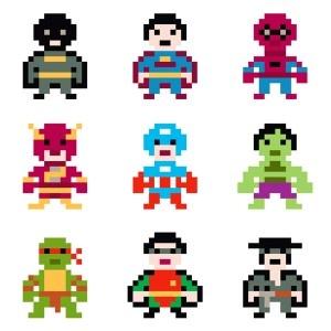 Super héros pixel - La Fabrique du Canari