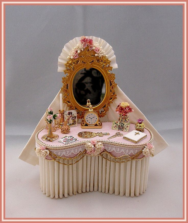 DRESSING TABLES & STOOLS - SIMPLY SILK MINIATURES: