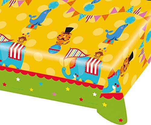 1 Tischdecke * ZIRKUS * für Kindergeburtstag oder Motto-Party // 998569 // Kinder Geburtstag Kinderparty Table Cover FISHER PRICE Fischer Circus Amscan http://www.amazon.de/dp/B010FAUKKO/ref=cm_sw_r_pi_dp_6qNbxb1EEEANE