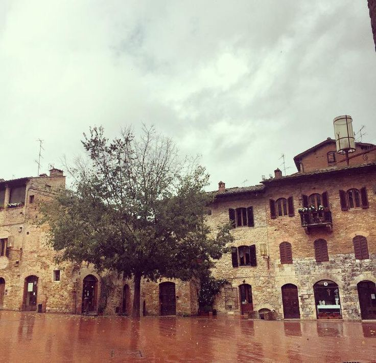 San Gimignano with the rain