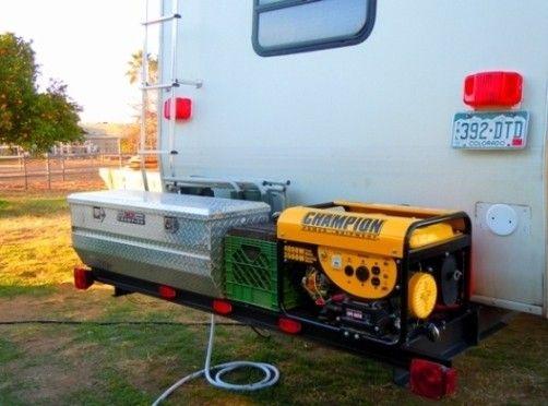 rv storage ideas | RV Cargo Deck Mod Idea: Custom Built - Free Up RV Space