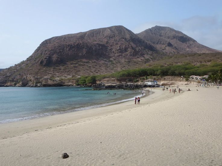 Praia do Presidente at Tarrafal at the north end of Santiago, Cape Verde, is one of the most scenic on the island.