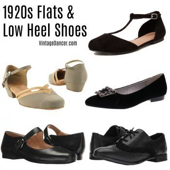 1920s Flats Shoes - T straps, Mary Janes, pumps, and oxfords