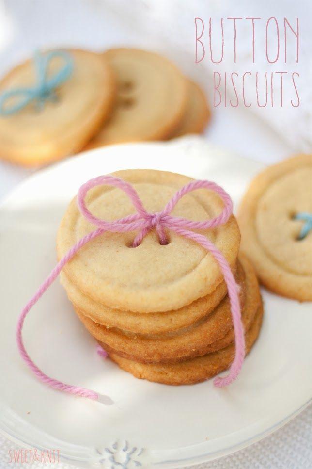 Sweet&Knit: Receta de Pastas de Té con forma de botón (Button biscuits)