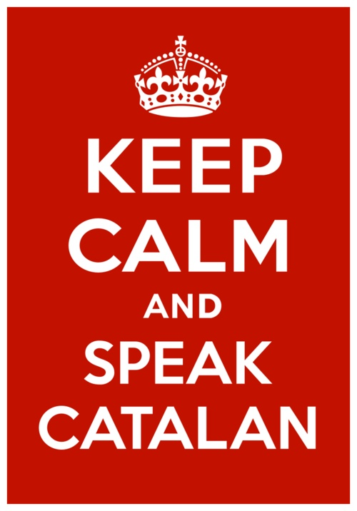 Just created the website for the poster featuring:  Hi-Res printable poster (PDF)  iPhone and iPad wallpapers  Android wallpapers  Desktop (16:10, 16:9, 4:3)  Facebook avatar and header  Twitter avatar and header  Background project history  New domainKeepCalmAndSpeakCatalan.com