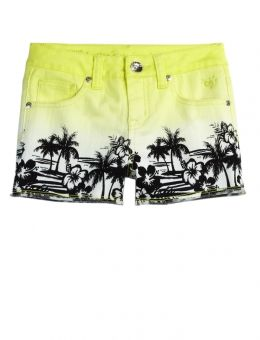 Scenic Dip Dye Denim Shorts