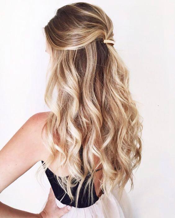 half up mermaid hair
