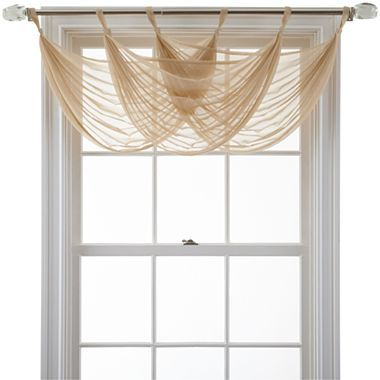 MarthaWindow™ Voile Waterfall Valance - jcpenney