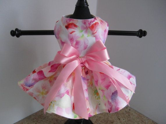 Dog Dress XXS Spring Fling By Nina's Couture by NinasCoutureCloset, $30.00
