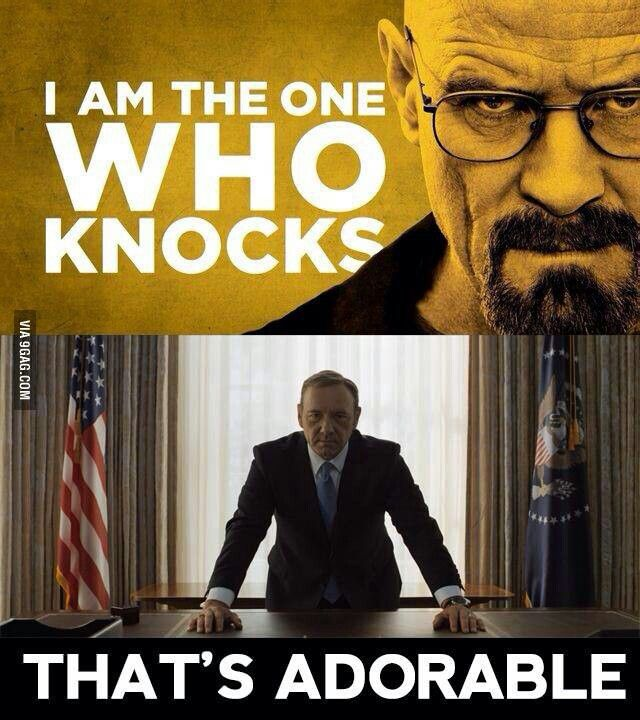 Francis underwood so much scarier than Walter white