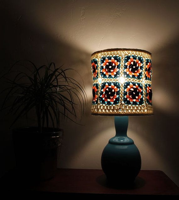 136 best Crochet lampshades images on Pinterest   Lampshades ...