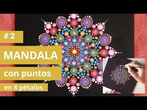 How to Paint Rock Mandala Dot Painting:: 8 petal | Cómo pintar mandalas en piedra: 8 petalos - YouTube