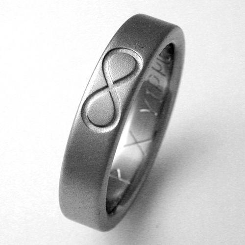 Trendy Infinity Symbol Rings for Men ring with infinity symbols Titanium wedding