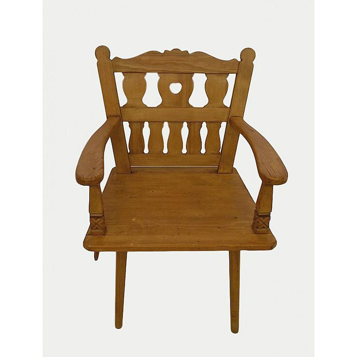 Rustic armchair,pine wood,Central Europe Dimensions: 66x95x50 Weight: 9200gr.