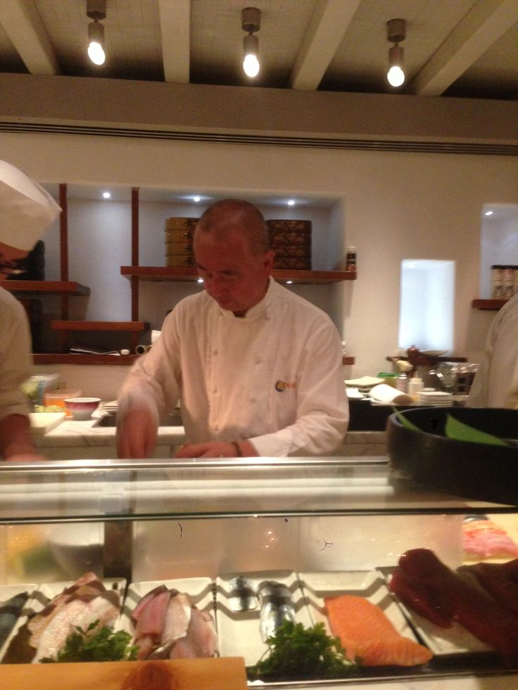 World-class master chef Nobu Matsuhisa creating exquisite dishes at the Nobu Food Festival!
