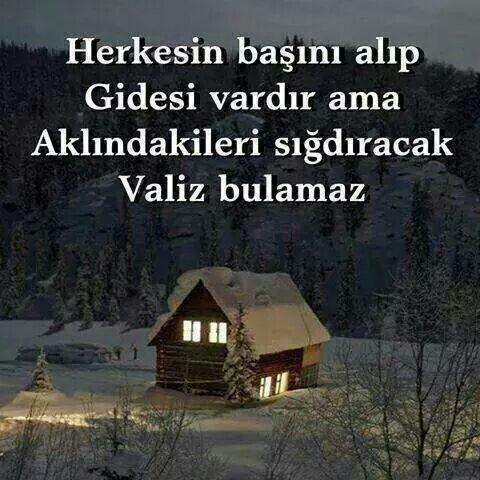 Herkesin başını alıp gidesi vardır ama aklındakileri sığdıracak valiz bulamaz.   - Nazan Bekiroğlu  #sözler #anlamlısözler #güzelsözler #manalısözler #özlüsözler #alıntı #alıntılar #alıntıdır #alıntısözler