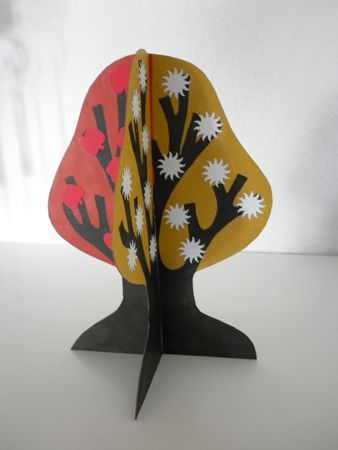 A quick art activity-The four seasons of a tree on all four sides.