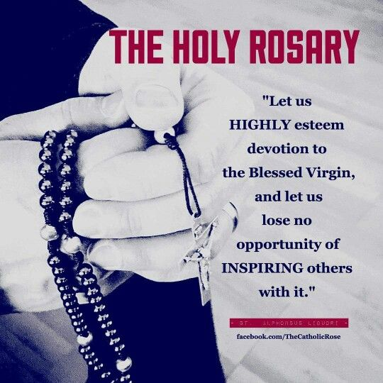 Pray the Rosary! That is the strongest weapon that we have against evil.