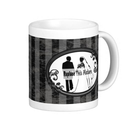 http://www.zazzle.com/black_grey_stripes_vintage_photo_frame_mugs-168780869568300578?rf=238523064604734277 Black Grey Stripes Vintage Photo Frame Mugs - This mug has a black and grey striped background with a black vintage frame in which to place a photo of a friend or loved one!